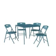 Cosco Home and Office 5 Piece Dinning Set; Teal