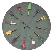 Creative Co-Op Oversized 36'' Garden Tools Wall Clock