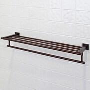 Vigo 24-inch Allure Bath Towel Rack with Towel Bar; Oil Rubbed Bronze
