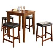 Crosley 5 Piece Dining Table Set; Classic Cherry