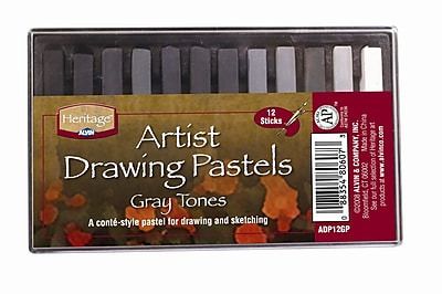 Alvin and Co. Graytone Drawing Pastels (Set of 12) WYF078276488790