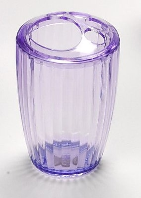 Carnation Home Fashions Acrylic Ribbed Toothbrush Holder; Magenta WYF078276489104