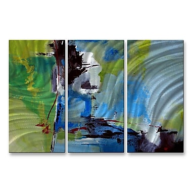 All My Walls 'All Is Not Lost' by Ruth Palmer 3 Piece Painting Print Plaque Set