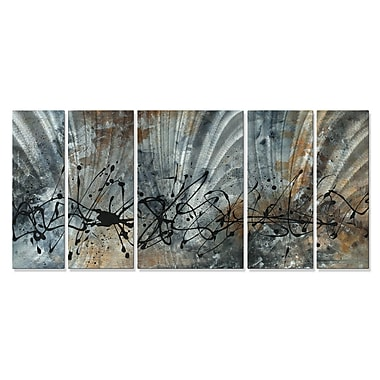 All My Walls 'Find The Peace' by Megan Duncanson 5 Piece Graphic Art Plaque Set