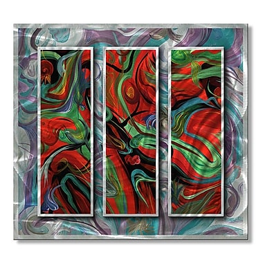 All My Walls 'Kinetic Energy' by Jerry Clovis 3 Piece Graphic Art Plaque Set