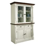 Home Styles Monarch Buffet with Hutch; White