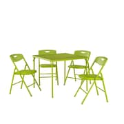 Cosco Home and Office 5 Piece Dinning Set; Apple Green
