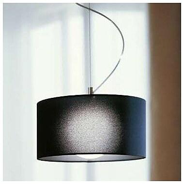 Morosini Fog 1 Light Drum Pendant; Black