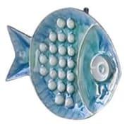 Global Views Blue Fish Plate Wall D cor; Small