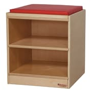Wood Designs Mobile Kids Stool w/ Storage Compartment
