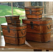 Global Views 5 Piece Wood and Iron Boxes Set