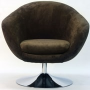 Fox Hill Trading Overman Disc Base Comet Chair; Brown