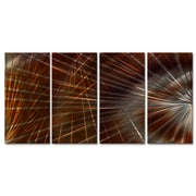All My Walls Network III by Ash Carl Metal Wall Art; Brown