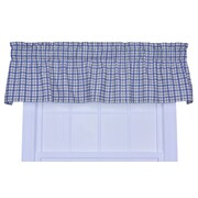 Ellis Curtain Bristol Plaid Window 70'' Curtain Valance; Blue
