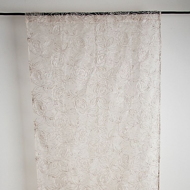 Saro Rose Single Curtain Panel