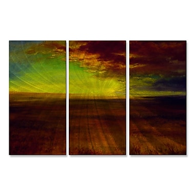 All My Walls 'Prairie Sky' by Keith Burnett 3 Piece Graphic Art Plaque Set