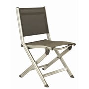Kettler Basic Plus Folding  Side Chair; Silver/Grey