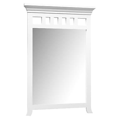 Ronbow Transitional Style Framed Mirror; White