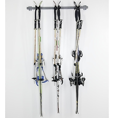Monkey Bar 3 Ski Storage Wall Mounted Rack
