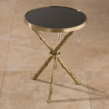 Global Views End Table; Brass