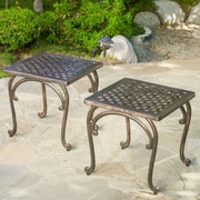 Home Loft Concepts Potenza Cast Aluminum Outdoor Side Table (Set of 2)