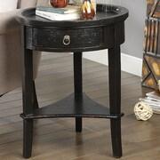 Coast to Coast Imports Carolina Preserves End Table; Glossy Manteo Textured Black