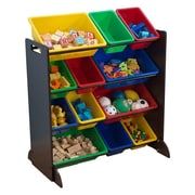 KidKraft Sort It and Store It 12 Compartment Cubby; Espresso