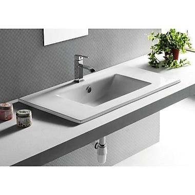Caracalla Ceramica Rectangular Ceramic Self Rimming Bathroom Sink w/ Overflow