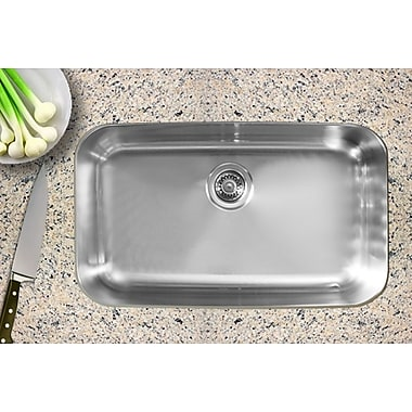 Ukinox 30.5'' x 18.5'' Single Bowl Undermount Kitchen Sink