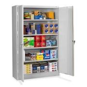 Tennsco Jumbo 2 Door Storage Cabinet; Light Grey