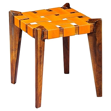 William Sheppee 18 Bar Stool Mustard Leather Staples 174