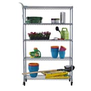 Trinity NSF All Weather 77'' H 4 Shelf Shelving Unit Starter