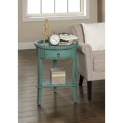 Coast to Coast Imports Carolina Preserves End Table; Texture Blue
