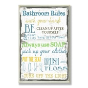 Stupell Industries Bathroom Typography Tall Rectangle Wall Plaque
