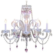 Harrison Lane 5 Light Pink Crystal Hearts Chandelier