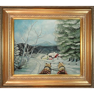 Tori Home Sleigh Ride by Peggy Miller Framed Painting Print