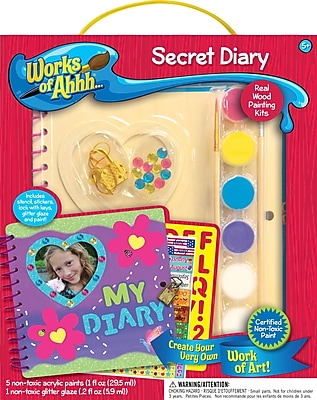 MasterPieces Works of Ahhh Secret Diary Wood Paint Kit WYF078276419008
