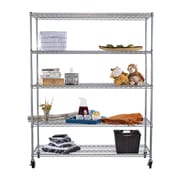 Trinity NSF Extra Large Commercial Grade 77'' H 4 Shelf Shelving Unit