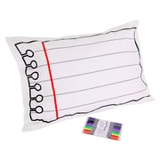 Doodle by Stitch Doodle Cotton White Pillowcase, with Wash-out Fabric Markers