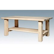 Montana Woodworks  Homestead Coffee Table with Shelf; Ready to Finish
