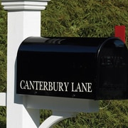 Good Directions Lazy Hill Farm Mailbox Lettering; White