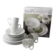 Ten Strawberry Street Simply White 16 Piece Dinnerware Set