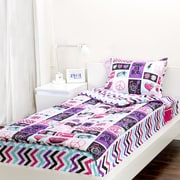 Zipit Bedding Rocker Princess 3 Piece Twin Comforter Set
