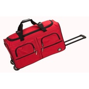 Rockland 36'' 2-Wheeled Travel Duffel; Red