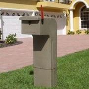 Mail Gator Locking Column Box; Sandstone