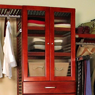 John Louis Home John Louis Home Closet System Door; Red Mahogany