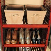 John Louis Home 16'' Deep Adjustable Shelves (Set of 2); Red Mahogany