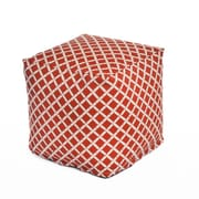 OC Fun Saks Bamboo Bean Bag Cube Ottoman; Orange