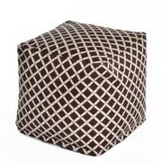 OC Fun Saks Bamboo Bean Bag Cube Ottoman; Brown