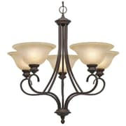 Wildon Home   Alberta 5 Light Shaded Chandelier; Rubbed Bronze